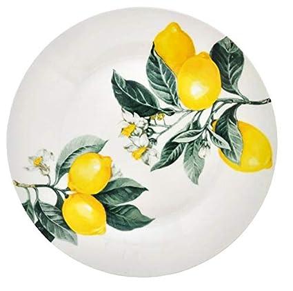 Royal Norfolk Lemon Dinner plate 4 piece set