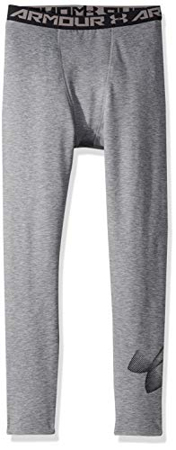 Under Armour Boys' ColdGear Leggings, Graphite Light Heath (040)/Black, Youth X-Small