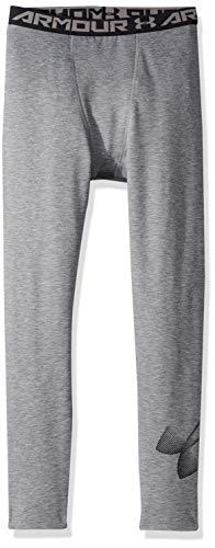 Under Armour Boys' ColdGear Leggings, Graphite Light Heath (040)/Black, Youth X-Small