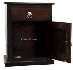 Friday-Furniture-Sheesham-Wood-Niwar-Bedside-End-Table-with-Drawer-and-Door-for-Living-Room-Bedroom-Home-Walnut-Finish
