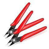 BOENFU Wire Cutters, Flush Cutter 5 Inch, Zip Tie Cutter Wire Snips - Red