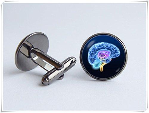 Brain model cufflinks Anatomical cufflinks Science Biology cufflinks