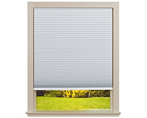 Easy Lift Trim-at-Home Cordless Cellular Blackout Fabric Shade White, 48 in x 64 in, (Fits windows 31'- 48')