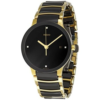 Rado Men's R30929712 Centrix Jubile Gold Plated Stainless Steel Bracelet Watch