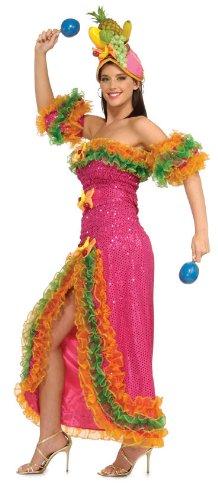 Rubie's Costume Grand Heritage Collection Deluxe Carmen Miranda Costume, Pink, Medium