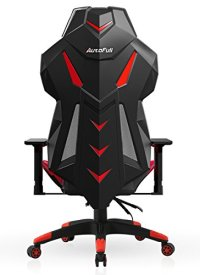 AutoFull Gaming Chair High-back Computer Chair, Ergonomic Racing Chair , Swivel Executive Esports Office Chair with Headrest Pillow and Lumbar Support(Red)
