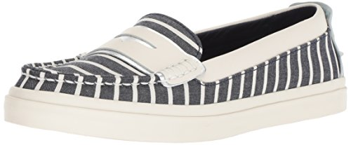 Cole Haan Women's Pinch Weekender LX Loafer Flat, Nautical Stripe Canvas/Ivory Leather, 7.5 B US