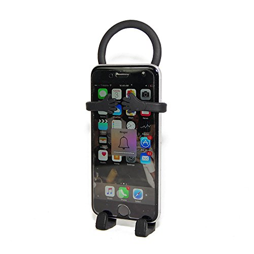 Bondi Silicon Flexible Cell Phone Holder, (Black)