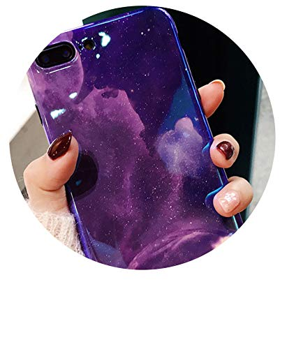 Hepu Purple Starry Night for iPhone x Mobile Phone Shell iPhone8 / 7plus Laser Blu-ray Soft Shell 6 / 6s Stars,Introspection,for iPhone 6 6S Plus