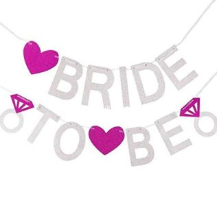 MariE--TRE-Hen-Party-Bunting-Bannire-Dcoration-Photo-Prop-Drapeau-de-Mariage