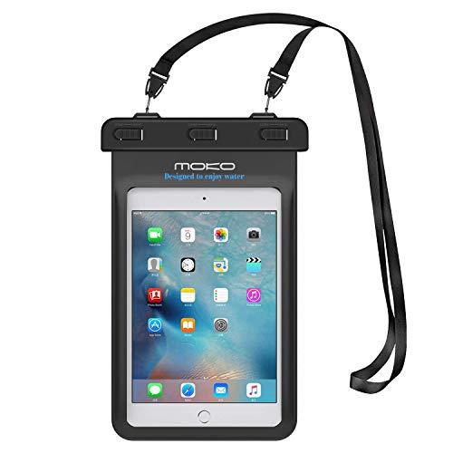 MoKo Universal Waterproof Case, Dry Bag Pouch for iPad Mini 2019/4/3/2, Samsung Tab 5/4/3, Galaxy Note 8, Tab S2/Tab E/Tab A 8.0, LG G Pad III 8.0, Google Nexus 7(FHD) & More Up to 8.3' - BLACK