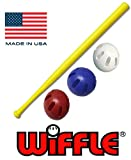 Wiffle Ball U.S.A Set - 32' Wiffle Bat with Red, White, and Blue Official Wiffle Balls - 4 Pack