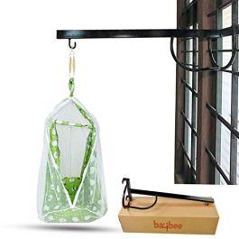 BAYBEE Baby Cradle Metal Hanger- Cradle for Baby Window Cradle Metal Hanger for Baby Size (76 x 26 x 8 cm) – Black
