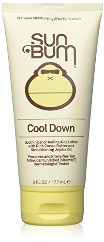 Sun Bum Cool Down Hydrating After Sun Lotion, 6 oz Tube, 1 Count, Hypoallergenic, Vitamin E, Cocoa Butter, Gluten Free, Vegan