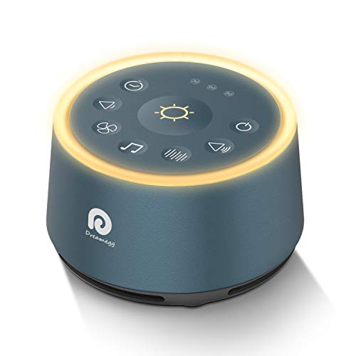 Sound Machines for Sleeping - Dreamegg White Noise Machine with 21 Non-Looping HIFI Sounds, 3 Auto-off Timer, Soothing Night Light, Portable Sound Machine for Baby/Kids/Adult/Office, USB or AC Powered