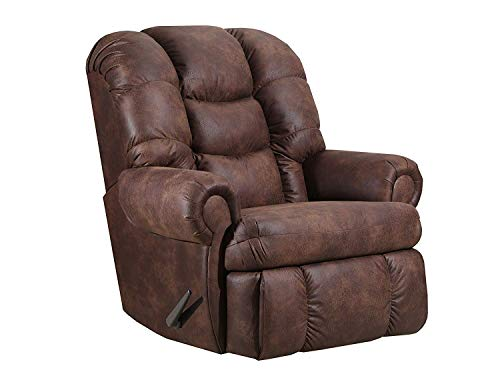 Lane Stallion Big Man (Large) Comfort King Wallsaver Recliner in Dorado Walnut. Made for The Big Guy Or Gal. Rated for Up to 500 Lbs. Extended Length. 79'. Seat Width. 25'