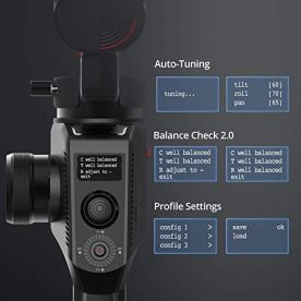 MOZA-Aircross-2-DSLR-Gimbal-Stabilizer-for-Mirrorless-Camera-3-Axis-up-to-7lbs32kg-Payload-and-12hrs-Lightweight-Mimic-Motion-Control-Auto-Tuning-Easy-Setup-Multiple-Shooting-Modes-OLED-Screen