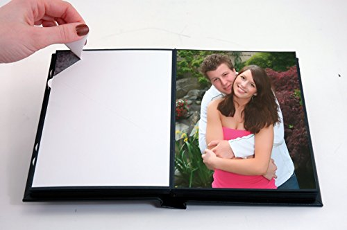 Neil-Enterprises-Leather-Self-Stick-Photo-Album-25-x-35-Black