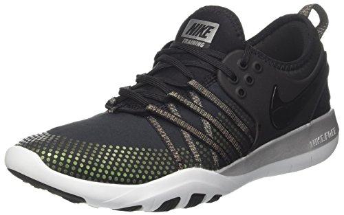 Nike Women's WMNS Free TR 7 MTLC, Black/Black-Pure Platinum, 11 M US