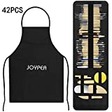 Pottery and Clay Sculpting Tools Double Sided Tool Set Sturdy Toolkit 42 Pcs for Polymer Clay Tools for Carving and Chipping Sculpting Tool Set for Beginner Carrying Case Artist Apron Cloth