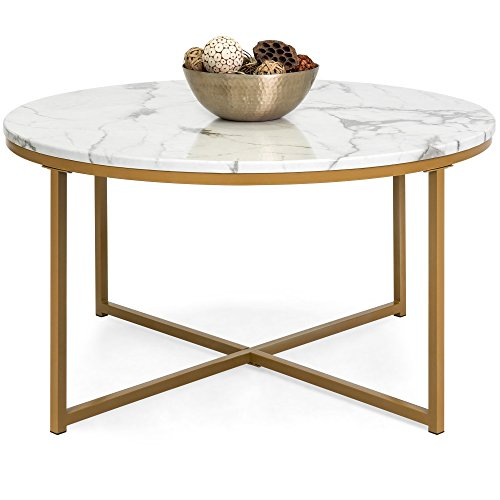 faux marble and gold table