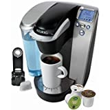 Keurig K75 Platinum Single-Cup Home-Brewing System with Water Filter Kit, One Size, Silver/Platinum