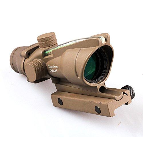 Terminus Optics Tan TOC1 Green True Fiber BDC Reticle 4x32 Magnification Rifle Scope Terminus LLC