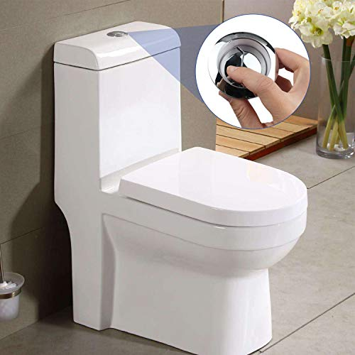 MyLifeUNIT Dual Push Flushing Toilet Button Toilet Tank Button Lever 58 mm Diameter