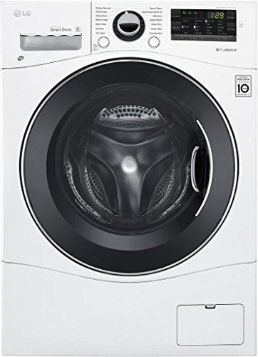 LG WM3488HW 24' Washer/Dryer Combo with 2.3 cu. ft. Capacity, Stainless Steel Drum in White