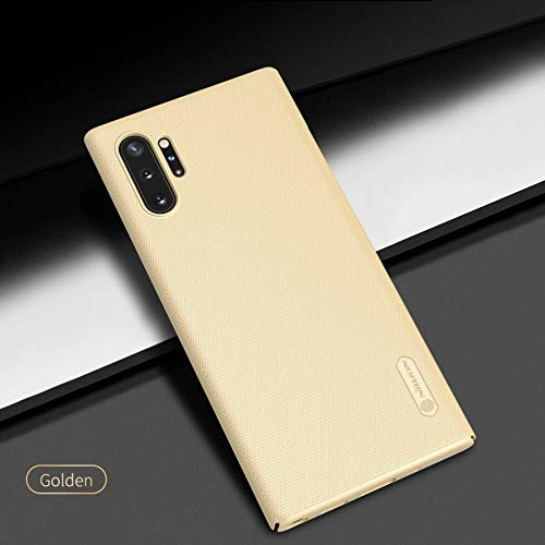 """Nillkin Case for Samsung Galaxy Note 10 Plus + (6.8"""" Inch) / Samsung Galaxy Note 10 Plus 5G Super Frosted Hard Back Cover PC Gold Color 4"""