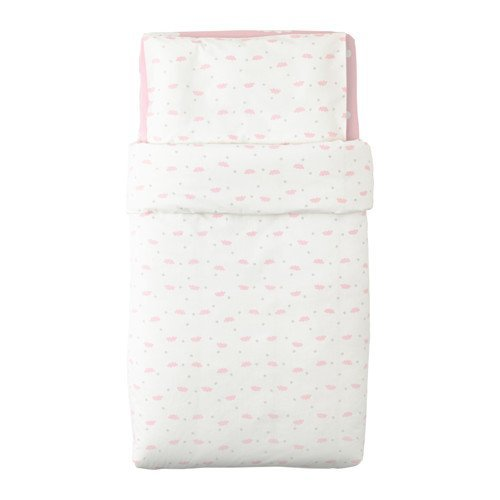 Ikea Himmelsk 4-piece Pink Crib Bed Linen Set