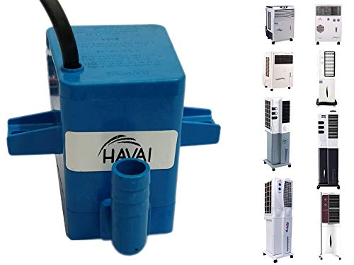 41vcXWvdCcL - HAVAI Submersible Pump Big Cooler Suitable for Tower and Personal Coolers (Blue, 4 ft )