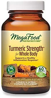 MegaFood, Turmeric Strength for Whole Body, Maintains a Healthy Inflammation Response, Vitamin and Herbal Dietary Supplement Vegan, 60 Tablets 1