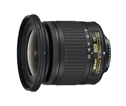 Nikon AF-P DX NIKKOR 10-20mm f/4.5-5.6G VR F/4.5-29 Fixed Zoom Camera Lens, Black