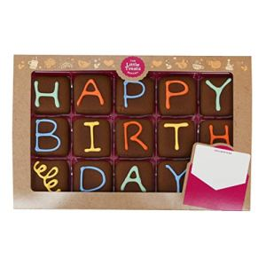 Happy Birthday Iced Chocolate Biscuits Gift – Say It with Biscuits 41vhtNr38 2BL