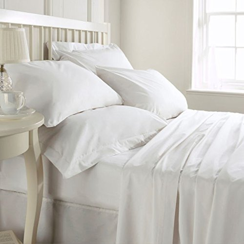 Hotel Quality 800TC Zipper Closer 3pc Duvet Cover Set Solid/Plain Super king (98 x 108) Size 100% Egyptian Cotton, Expedited Shipping (White)