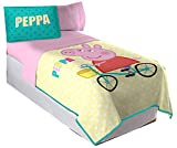 Franco MFG Peppa Pig Twin/Full Quilt and Sham Set - Fits Twin and Full Size Beds