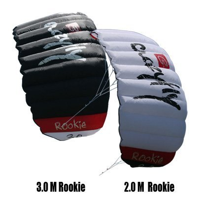 Sensei CrazyFly Rookie 3m Trainer kite with Progression Beginner Training DVD. Complete and Ready to Fly