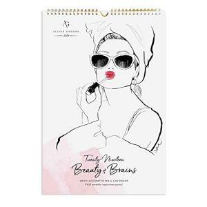 2019 Beauty & Brains Poster Wall Calendar, by Allison Gordon