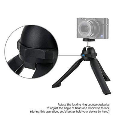 JJC-Vlog-Camera-Mini-Tabletop-Tripod-Stand-Handheld-Tripod-for-Sony-ZV-1-ZV1-RX100-VII-A6000-A6100-A6300-A6400-A7-III-A7R-IV-Canon-G7X-Mark-III-II-M50-RP-Panasonic-GX85-G7-Fuji-X-T3-X-T30-Nikon-Z50-Z6