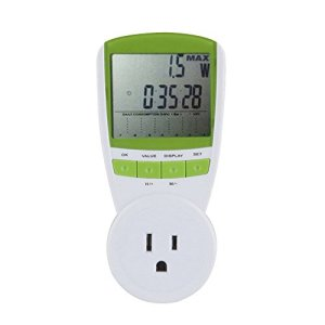 Cideros Universal Plug-in Energy Meter Voltage Amps Power Monitor Wattage Volt Hz Analyzer Watt Electricity Usage Monitor with LCD Digital Display to Reduce Energy Costs, US Plug