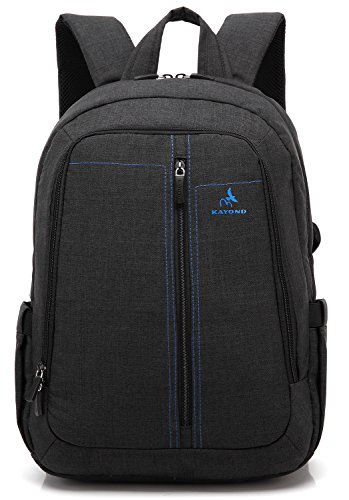 KayondÂlaptop Backpack -Ultralight Nylon Fabric EPE Foam Sandwich-Classic for School and Bussiness (Black)