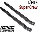 Ionic 5' Railway Black Running Board (fits) 2015-2019 Ford F150 SuperCrew Cab