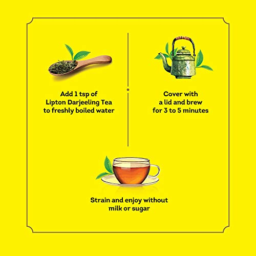41vtqf3SOHL - Lipton Darjeeling Long Leaf Tea, 100 Percent Pure and Authentic Darjeeling Tea, 250 g
