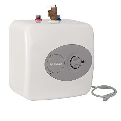 Bosch Electric Mini-Tank Water Heater Tronic 3000 T 2.5-Gallon (ES2.5)  - Eliminate Time for Hot Water - Shelf, Wall or Floor Mounted