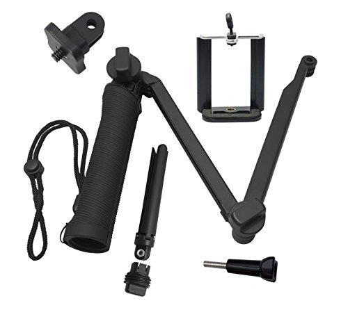 41vuJyj8QYL YANTRALAY SCHOOL OF GADGETS 3-Way Monopod Grip Arm Tripod Foldable Selfie Stick, Stabilizer Mount Holder for GoPro Hero 7/6/5, SJCAM SJ6, SJ7, SJ5000, Yi and All Action Cameras (Black)