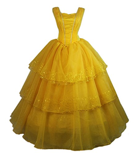 Heartgown Women's Beauty and The Beast 2017 Princess Belle Cosplay Ball Gown Dress Yellow US2