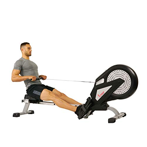Sunny Air Rower Rowing Machine, Dual Resistance Exercise Rower that Creates a Satisfying On-The-Water Sensation for a Full Body Workout, 300 LB Max Weight - SF-RW5623