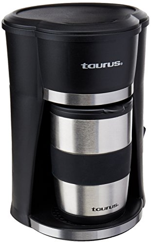 Taurus SEDNA DRIP Cafetera Go Termo, Acero, 420W, 1 o 2 Tazas