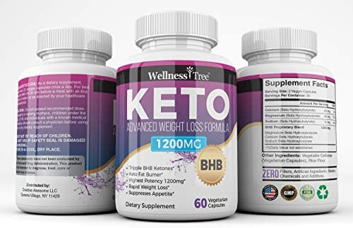 (3 Pack) Keto Diet Pills - Max Strength 1200mg Utilize Fat for Energy with Ketosis - Boost Energy & Focus, Manage Cravings, Support Metabolism - Keto BHB Supplement for Women and Men 6